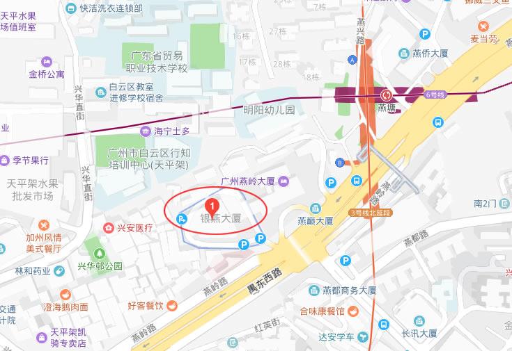 广州市亿帆公司地图